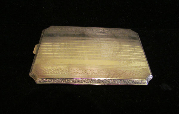 Antique EAM Cigarette Case Card Case Silver 1910 Edwardian