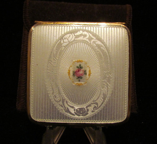 1930s bliss brothers guilloche powder compact 24kt gold for Property brothers bliss