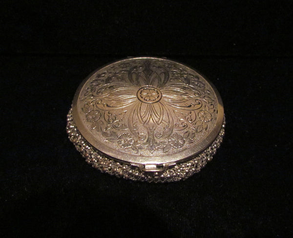 1930 S Evans Silver Mesh Powder And Mirror Compact Rare