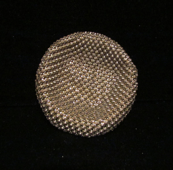 1930's Evans Silver Mesh Powder And Mirror Compact Rare