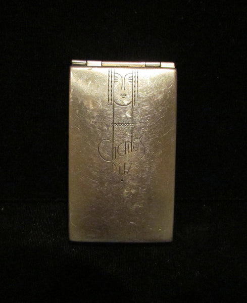 Vintage Art Deco Charles Of The Ritz Compact 1930's Powder Rouge & Mirror Compact