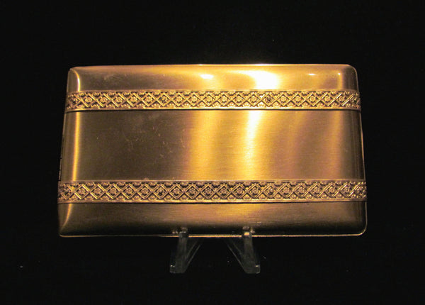 1950's Elgin Cigarette Case Gold Business Card Case Or Credit Card Holder