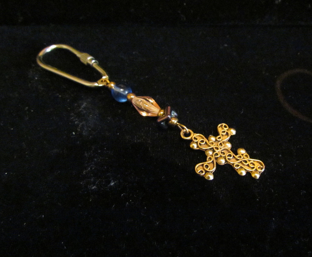 OOAK Handmade Cross Keychain Christian Beaded Religious Ladies Key Chain