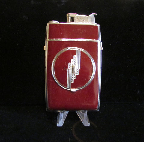 1940's Evans Case Lighter Powder Compact Art Deco Trig-A-Lite Cigarette Case Working