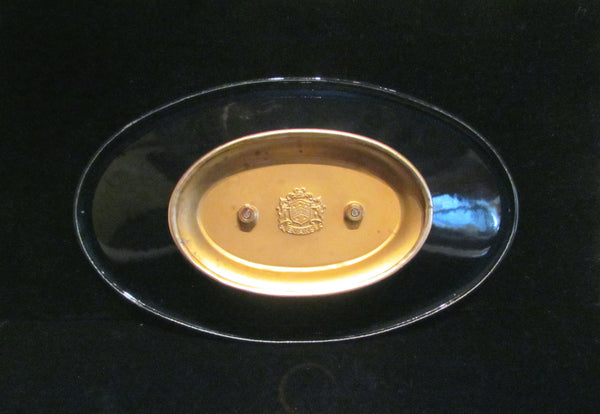 1950's Evans Guilloche Ashtray Compote Dish Bowl Tray Candy Or Nut Dish