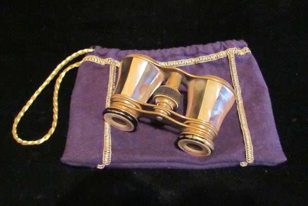 Colmont Opera Glasses 1800s Paris Mother Of Pearl & Abalone Binoculars Theater Glasses