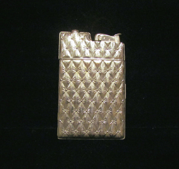Working Silver Case Lighter Evans Cigarette Lighter Art Deco Case 1940's