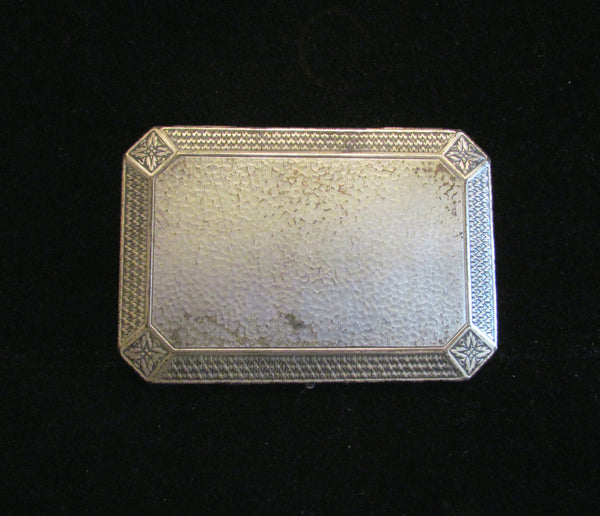 Circa 1900's Silver Vanity Box Compact Perfume Bottle Set Antique Box Mirror Powder Compact Victorian Vanity Set Dresser Accessory