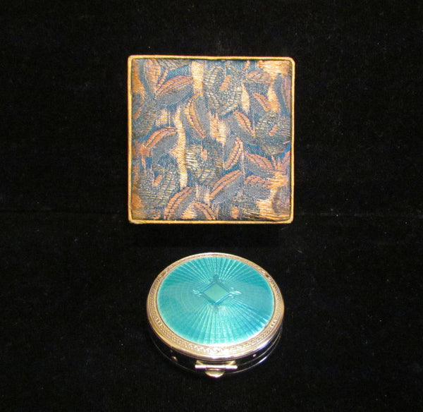 Richard Hudnut Guilloche Enamel Deauville Compact 1920 S