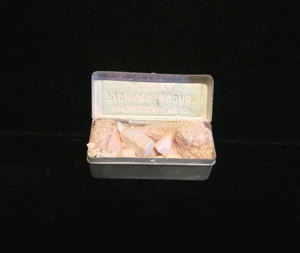 1920's Richard Hudnut Nail Polish Tin Aluminum Box Container Nail Pumice Beauty Box Complete