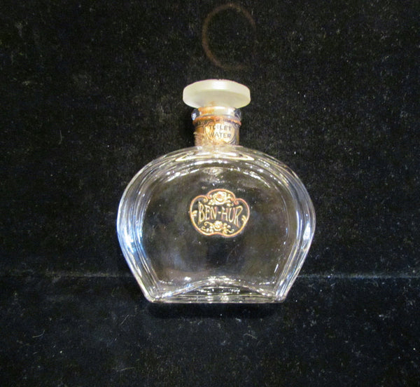 Antique Perfume Bottle 1900's Ben Hur Perfume Toilet Water Bottle Jergens Glass Bottle Hand Blown Glass RARE SALE