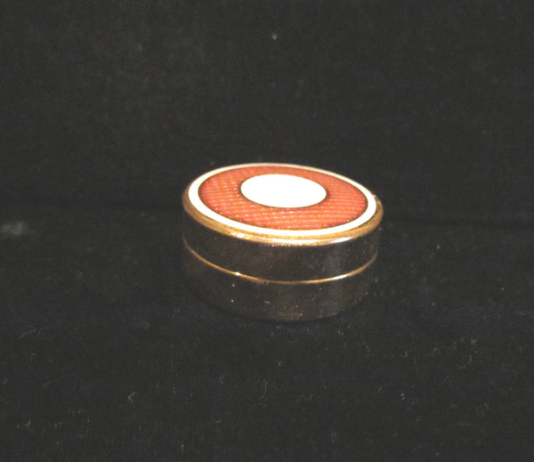 1920's Powder Jar Art Deco Powder Tin Guilloche Enamel Vintage Powder Box Gold Plated Compact