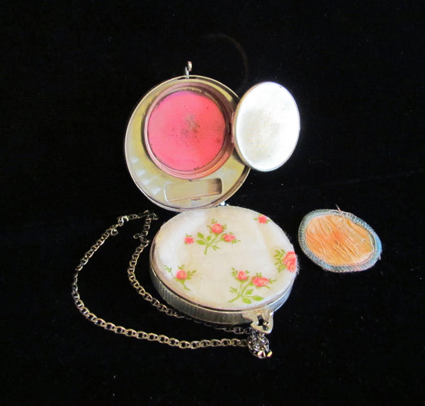 Antique Compact Dance Purse 1910 Powder Mirror Compact Wristlet Purse