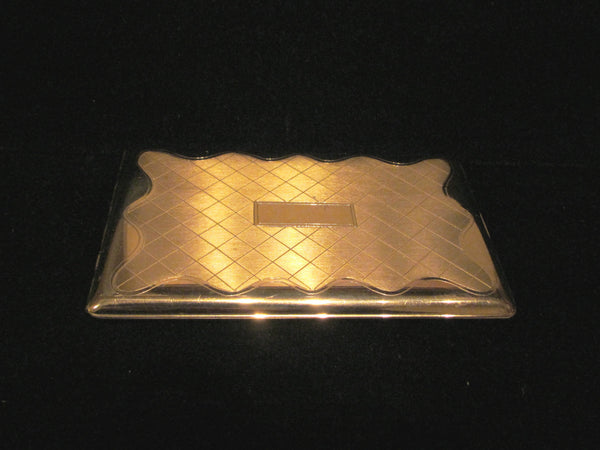 Vintage Cigarette Case Gold Elgin American 1950s Business Card Case Excellent Condition