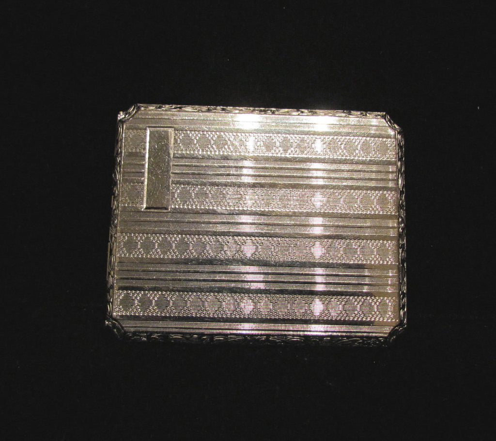 1910 EAM Cigarette Case Vintage Silver Plate Business Card Case ...