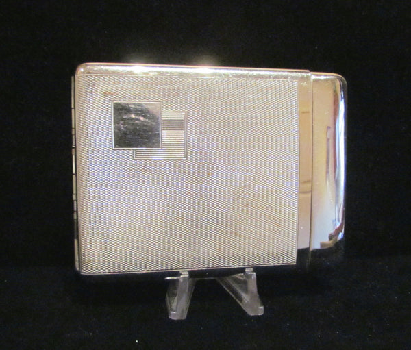 Art Deco Silver Royal Cigarette Case 1940s Business Card Case Rare