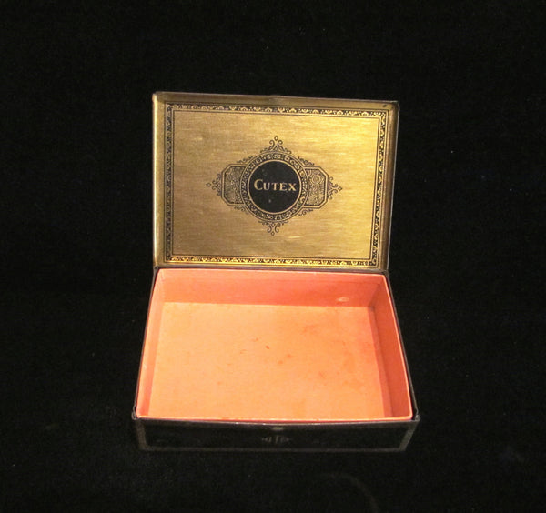 Cutex Nail Care Tin 1920's Art Deco Box Vintage Vanity Tin RARE