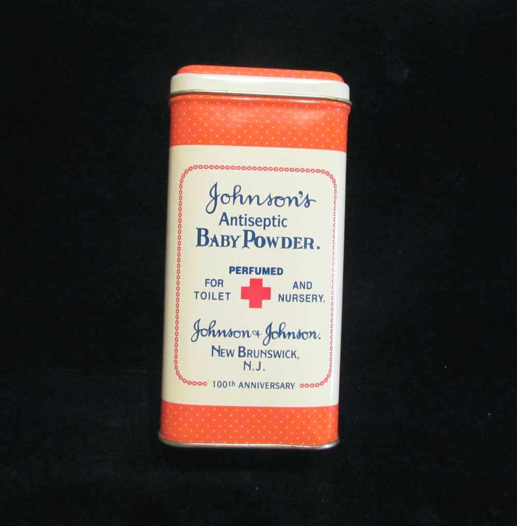 Vintage Powder Tin Johnson's Baby Powder Tin 100Th Anniversary Tin Commemorative