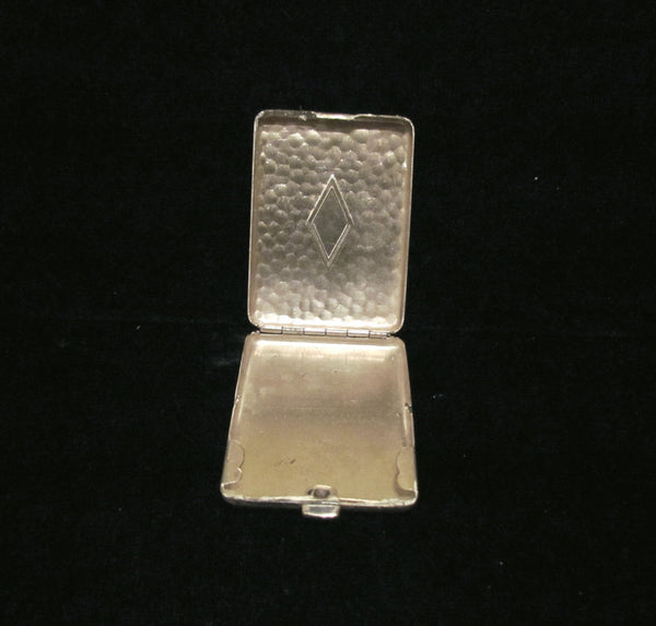 Silver Plated Cigarette Case & Match Safe 1910's Vesta Gift Set In Original Box