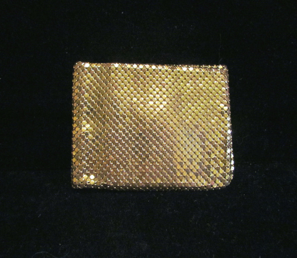Vintage Whiting & Davis Wallet Gold Mesh Womens Billfold Ladies Wallet Evening Bag UNUSED GREAT CONDITION