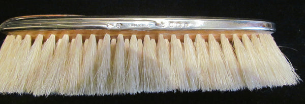 Pink Guilloche Sterling Silver Clothing Brush 1935 Albert Carter Skyscraper Design Mint Condition