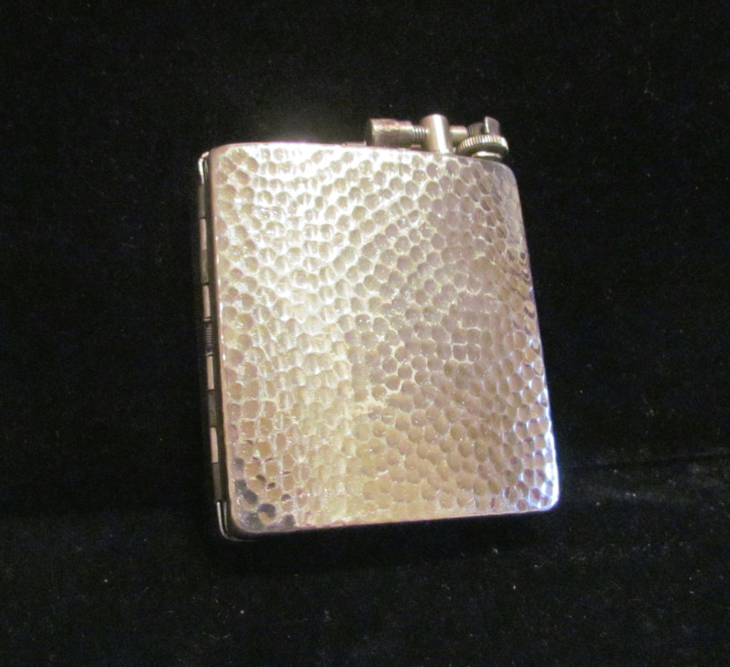 Circa 1910 Lift Arm Lighter Silver Hammered Case Lighter Rare Working