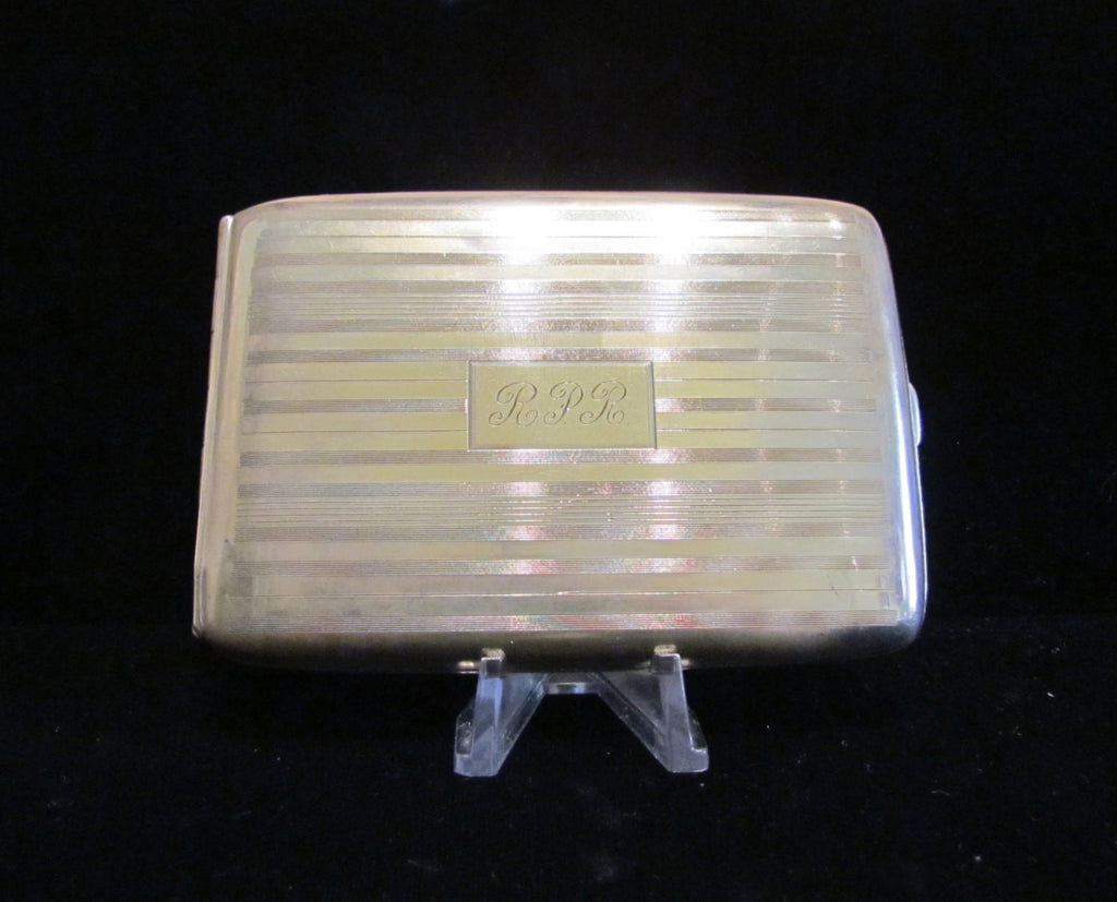 1910 LaMode Silver Plated Cigarette Case Or Business Card Case