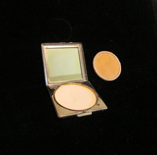 1950s Yardley Powder And Mirror Silver & Gold Tone Compact