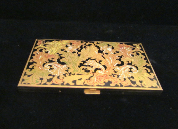 Vintage Volupte Cigarette Case 1950s Enameled Ladies Business Card Case Card Holder