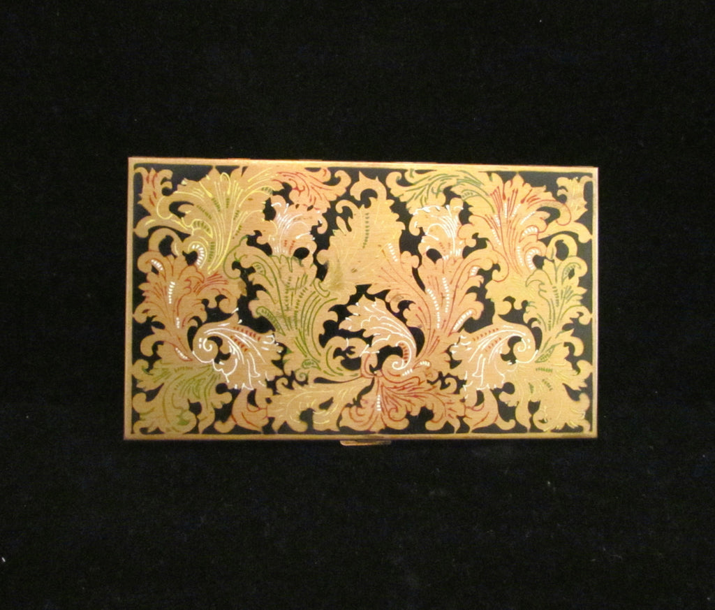 Vintage Volupte Cigarette Case 1950s Enameled Ladies Business Card ...