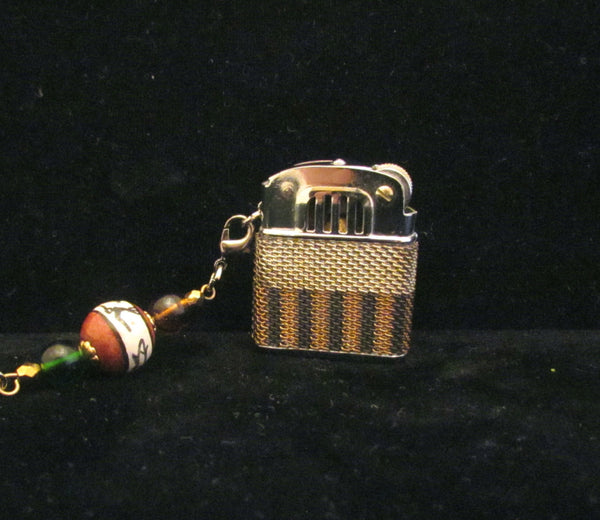 Vintage Windproof Lighter Keychain Lighter Handmade Hummingbird OOAK Keychain Vintage Working Lighter UNIQUE