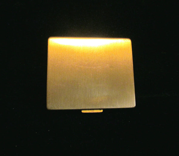 Paul Flato Powder Compact Vintage 1940s Gold Plated Enamel Compact RARE