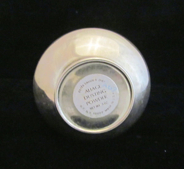 Estee Lauder Pear Powder Jar Silver Dusting Powder Sugar Shaker Vintage Aliage Rare