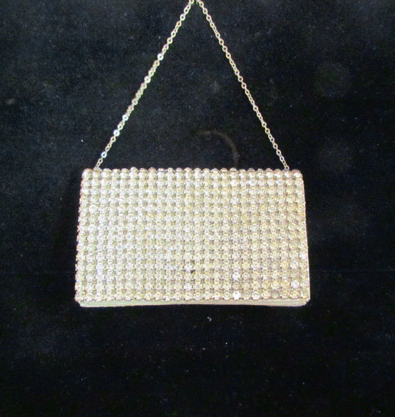 1930's Rhinestone Purse Hollywood Regency Ladies Wallet Clutch Purse Bling Bag