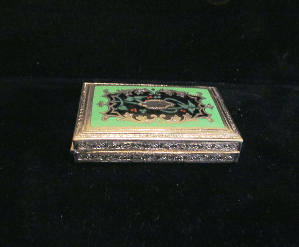 Victorian Enamel Cigarette Or Card Case 1920s Rare Beautiful Case