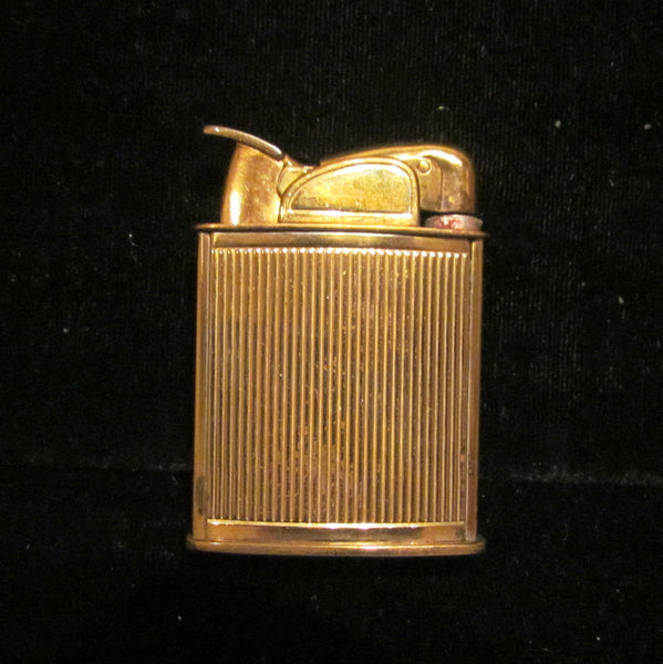 1940s Evans Guilloche Lighter Art Deco Pocket Purse Lighter Boxed Working Condition