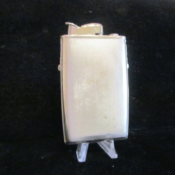 1940s Trig-A-Lite Evans Cigarette Case Lighter Art Deco Silver Working Excellent Condition