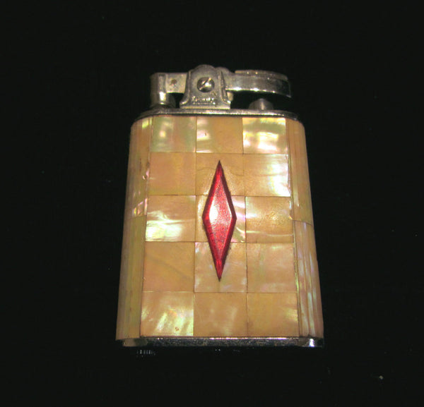 Vintage Prince Lighter Mother Of Pearl 1950s MOP Lighter In Excellent Working Lighter