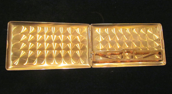 1950's Gold Cigarette Case Elgin American Business Card Case Excellent Condition