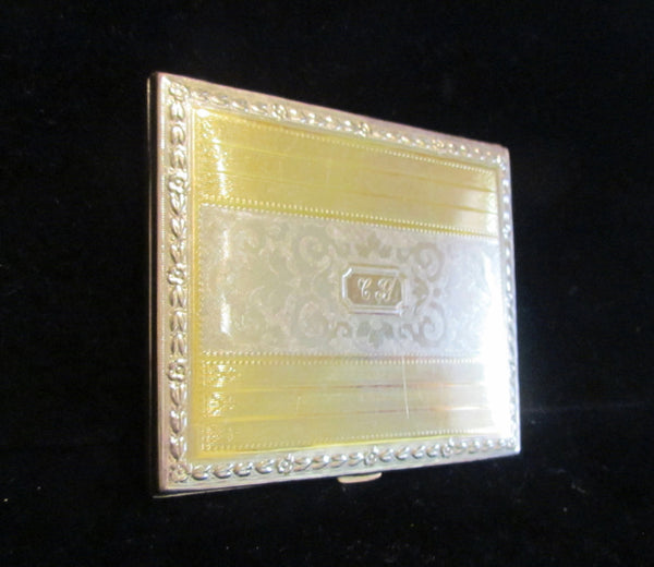 Evans Nickel Silver Cigarette Case Business Credit Card Holder 1910 Edwardian