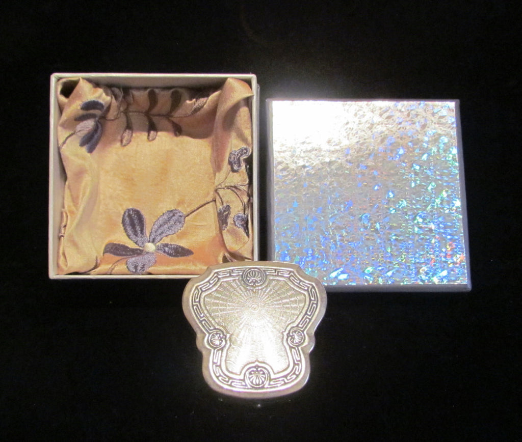 1920s Karess Woodworth Compact Powder Rouge Compact Silver Compact Rare