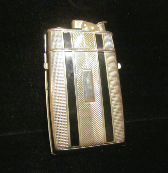 Art Deco Cigarette Case Lighter Evans 1940s Working Vintage Lighter Mint Condition