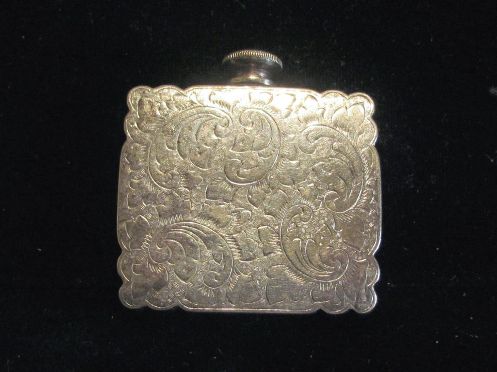 Antique Silver Perfume Flask Victorian Nickel Silver Snuff Bottle