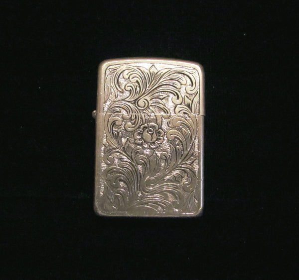 1960's Silver Cigarette Case & Flip Top Lighter Regulars 100's or Kings Working Excellent Condition