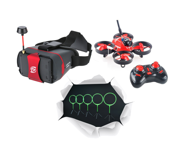 Aerix Nano FPV Indoor Drone Racing Package