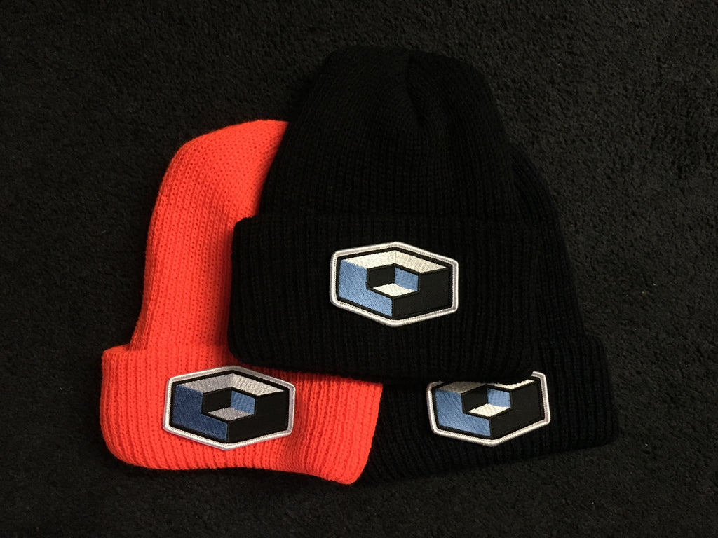 Cube Foldover Beanie with Cube Patch