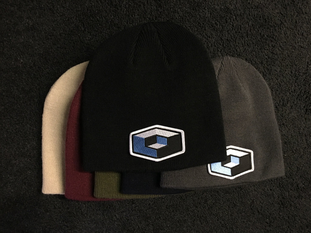 Cube Skull Cap Beanie with sewn on Cube patch