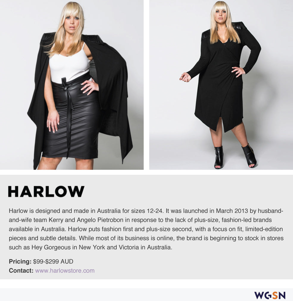 THE DRESS COLLECTIVE'S LATEST ARRIVAL, HARLOW FROM MELBOURNE, FEATURES ON WGSN