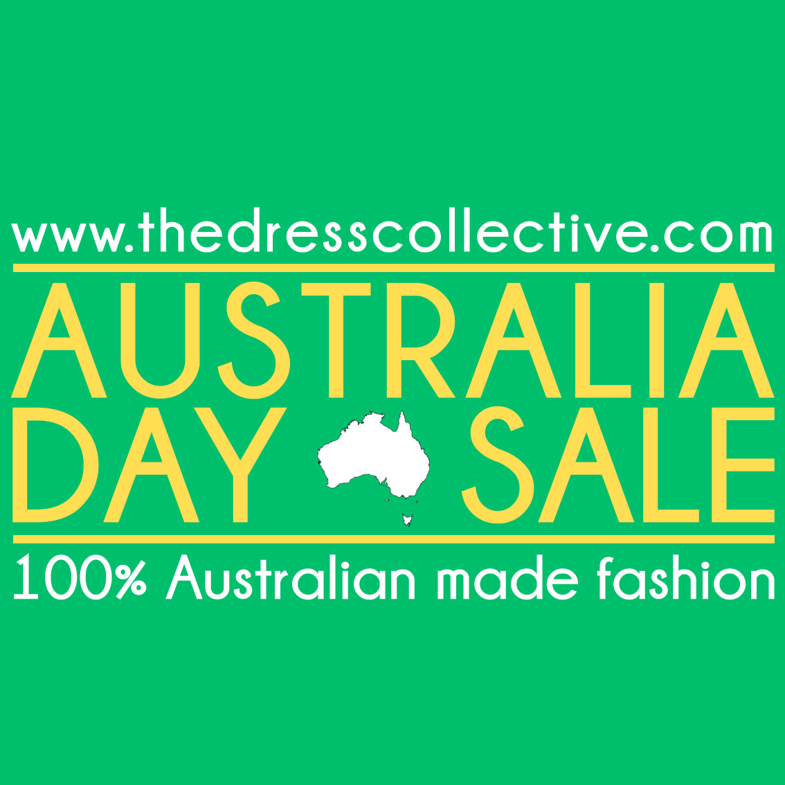 CELEBRATE AUSTRALIA DAY WITH 20% OFF EVERYTHING AT THE DRESS COLLECTIVE