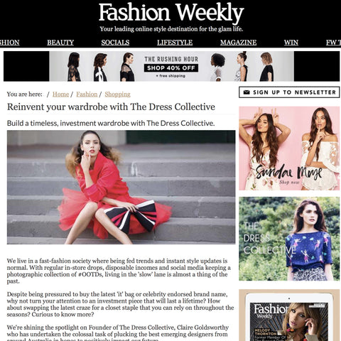 THE DRESS COLLECTIVE FEATURES IN FASHION WEEKLY MAGAZINE: REINVENT YOUR WARDROBE